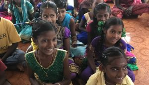 Students and parents at one of SASY's Children's Resource Centres in Cuddalore district