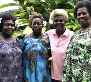 Anna (left), with Bridgette, Judy and Clara from the Hako Women's Collective